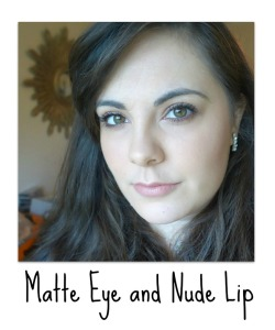 Matte Eye with Nude Lip